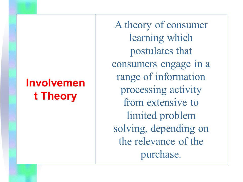 Involvement Theory