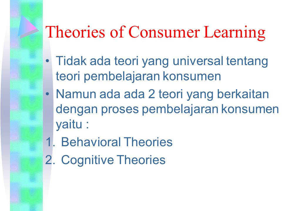Theories of Consumer Learning
