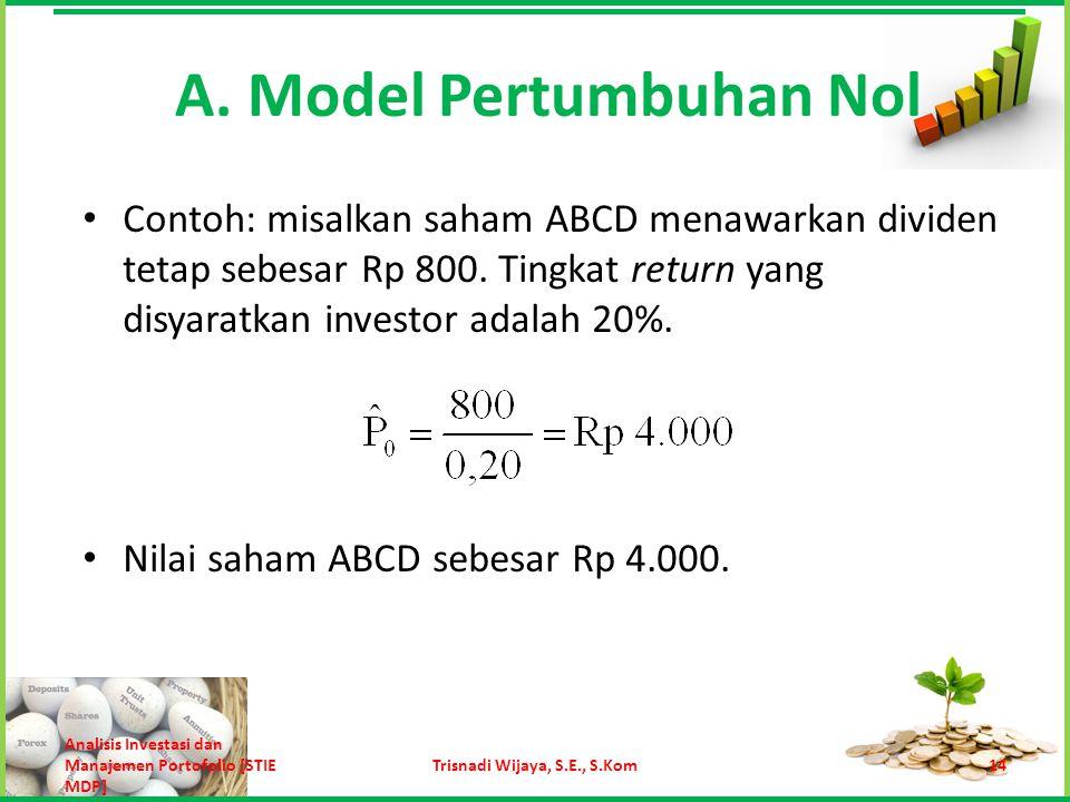 A. Model Pertumbuhan Nol