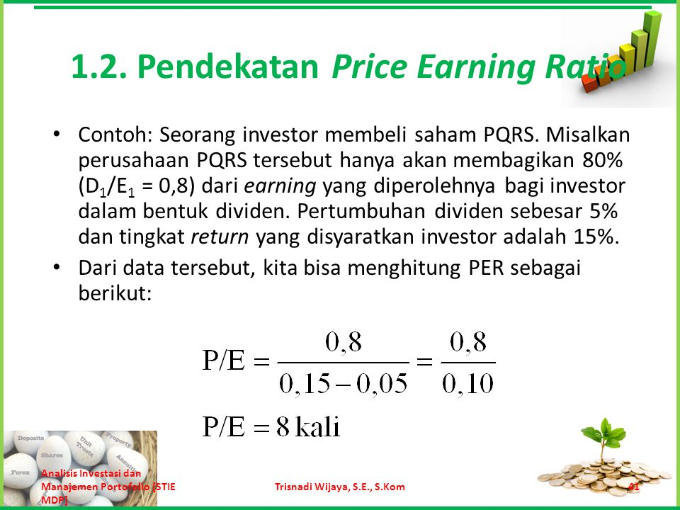 1.2. Pendekatan Price Earning Ratio