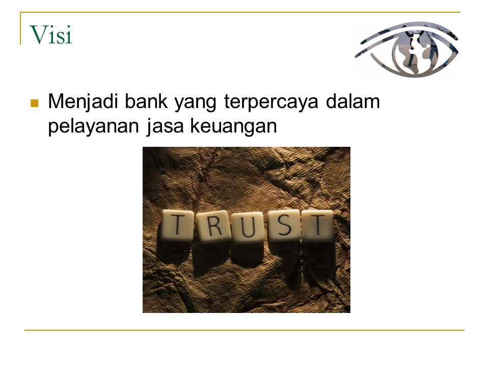 Visi Menjadi bank yang terpercaya dalam pelayanan jasa keuangan