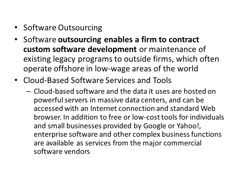 Cloud-Based Software Services and Tools