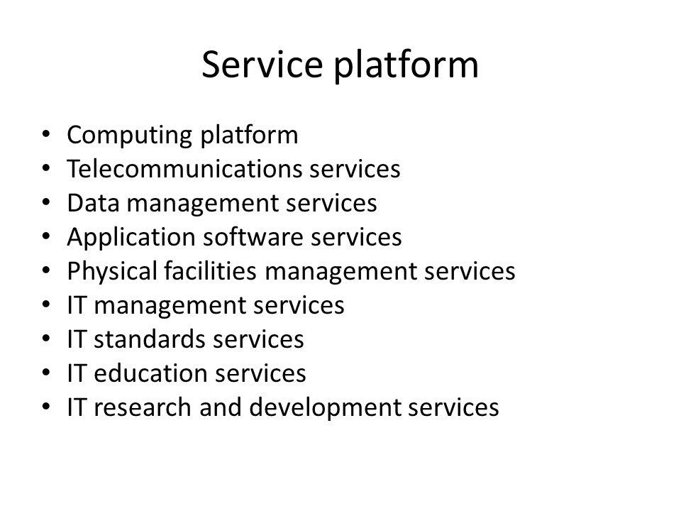 Service platform Computing platform Telecommunications services