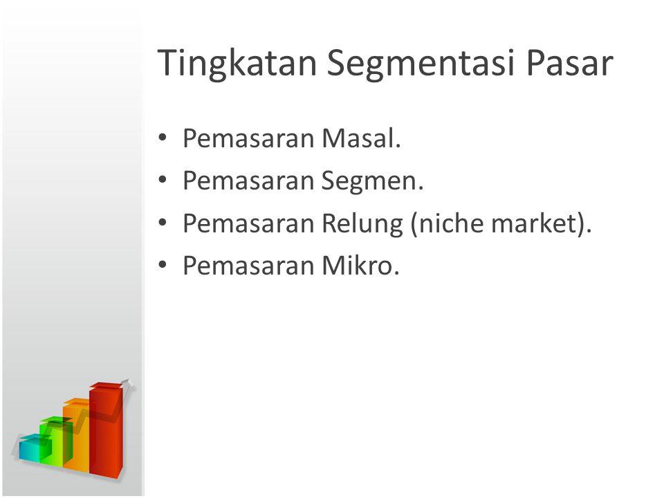 Tingkatan Segmentasi Pasar