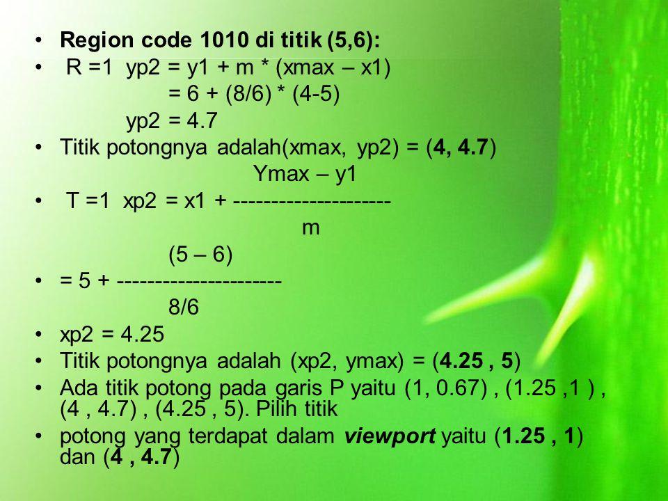 Region code 1010 di titik (5,6):