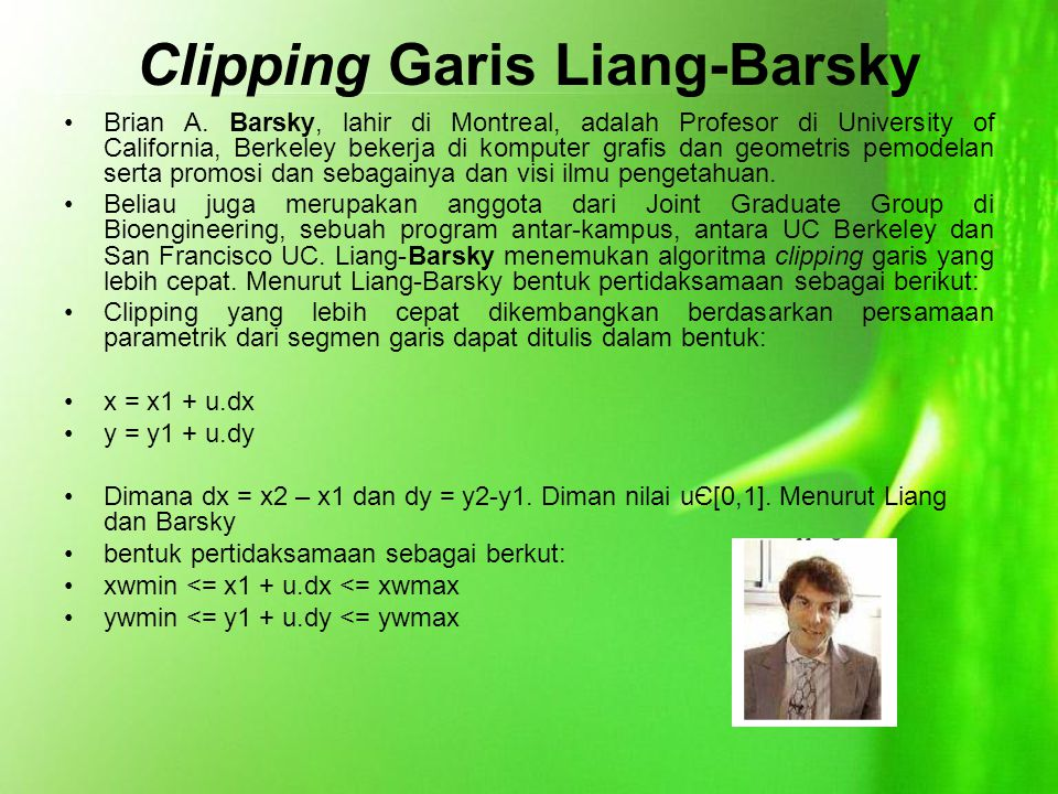 Clipping Garis Liang-Barsky