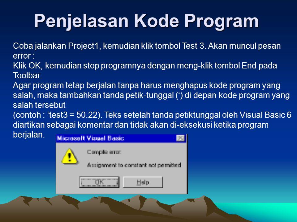 Penjelasan Kode Program
