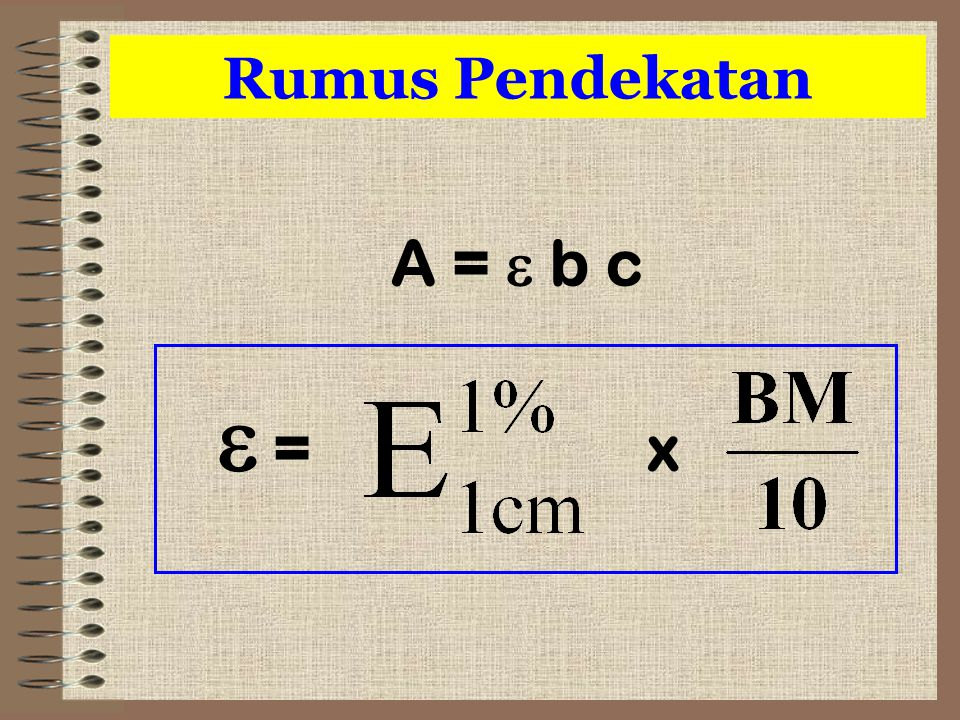 Rumus Pendekatan A =  b c  = x