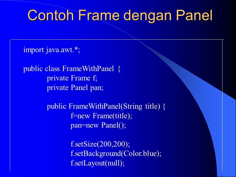 Contoh Frame dengan Panel