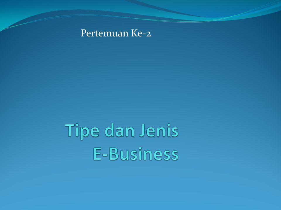 Tipe dan Jenis E-Business
