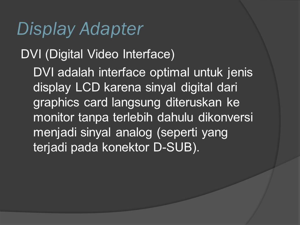 Display Adapter