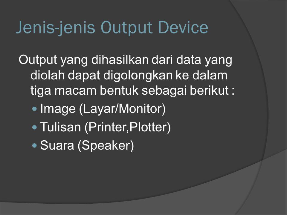 Jenis-jenis Output Device