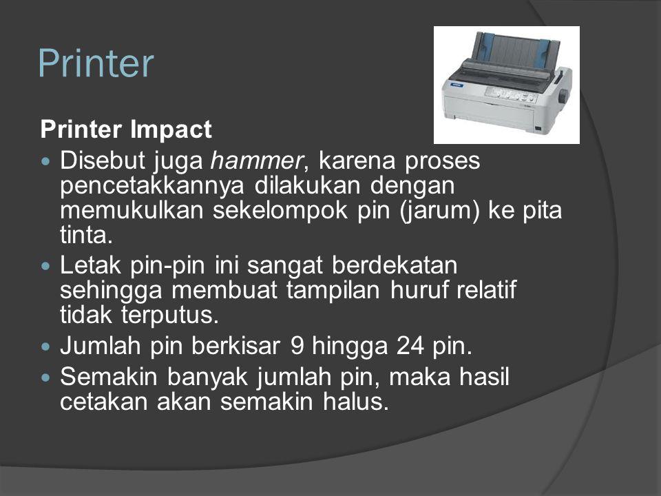 Printer Printer Impact