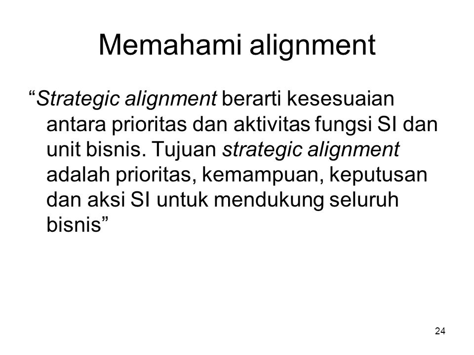 Memahami alignment