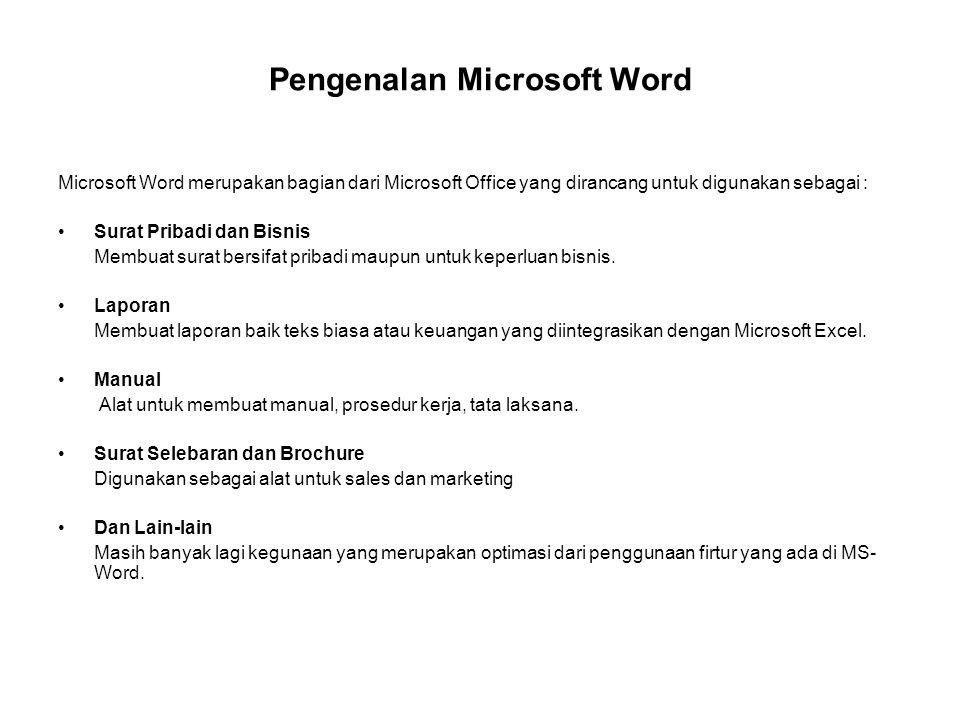 Pengenalan Microsoft Word