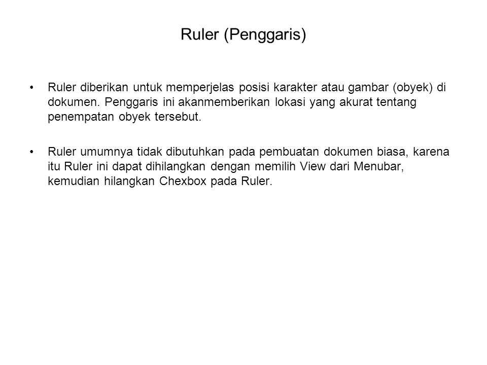 Ruler (Penggaris)