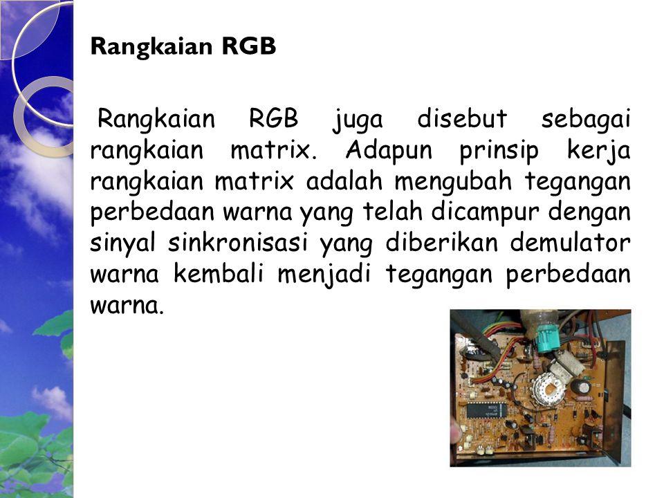 Rangkaian RGB Rangkaian RGB juga disebut sebagai rangkaian matrix