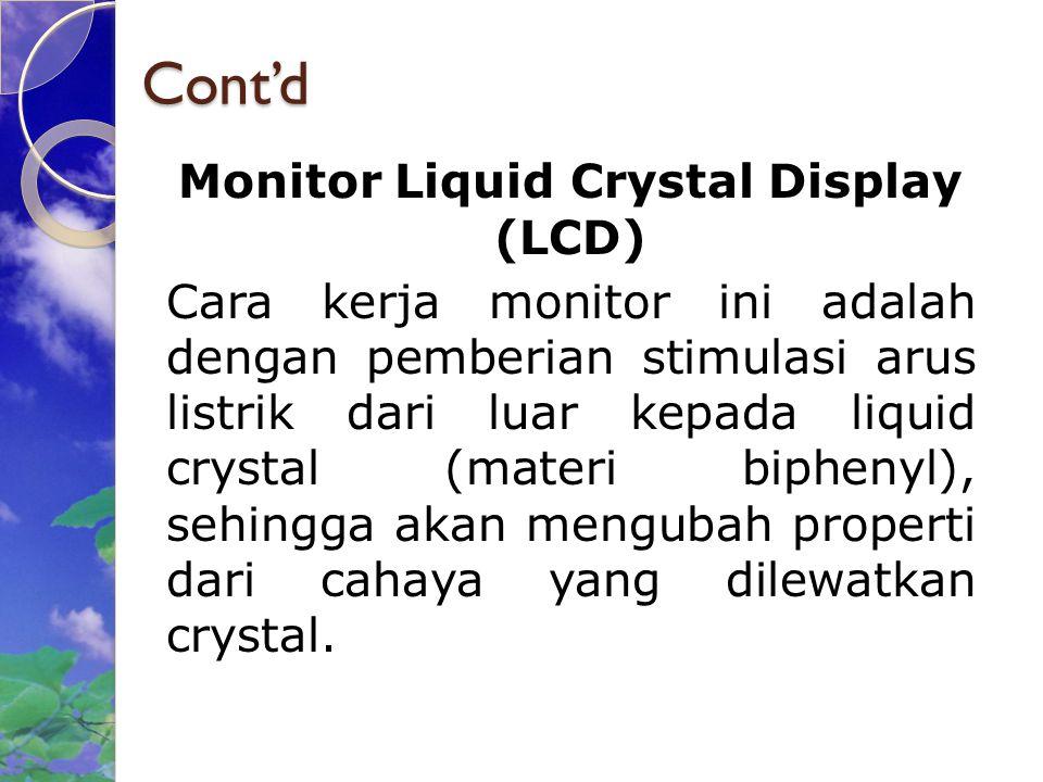 Monitor Liquid Crystal Display (LCD)