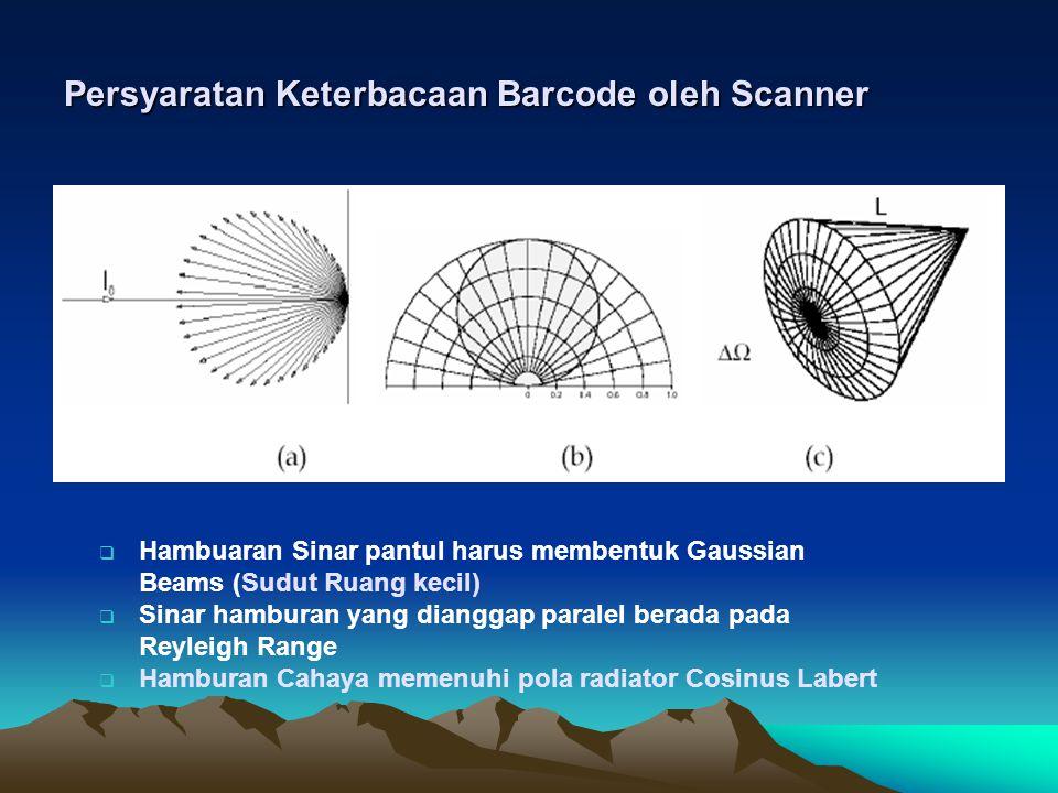 Persyaratan Keterbacaan Barcode oleh Scanner