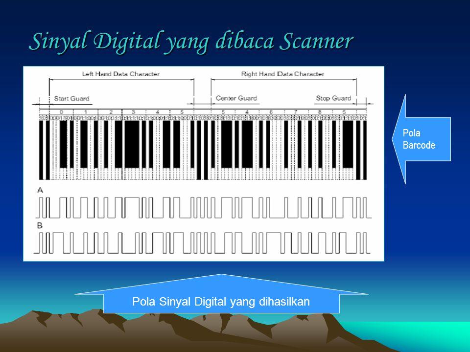 Sinyal Digital yang dibaca Scanner