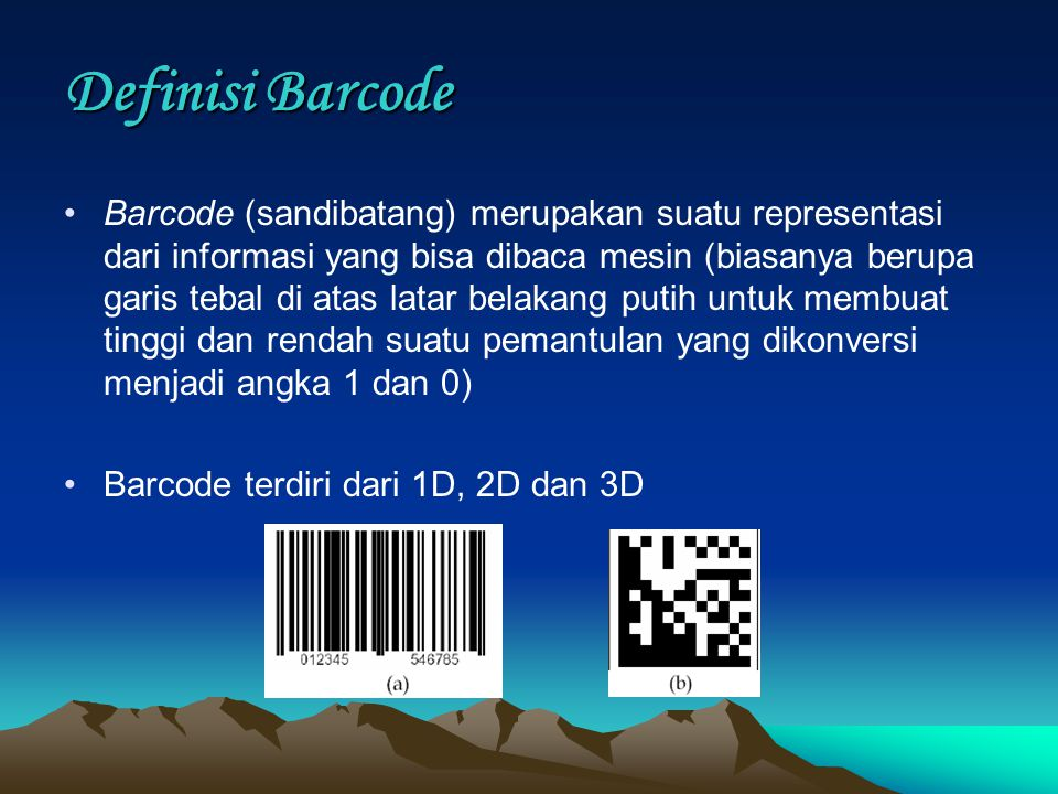 Definisi Barcode