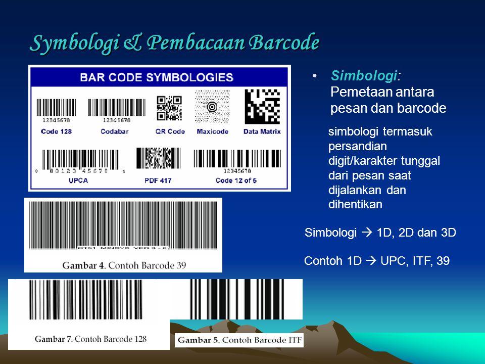 Symbologi & Pembacaan Barcode
