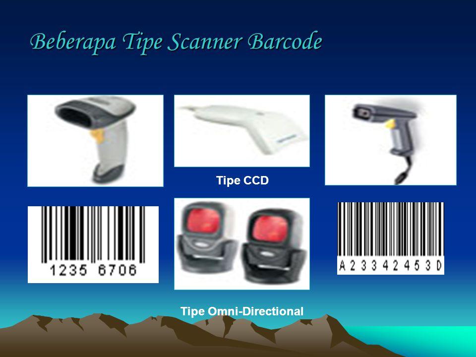Beberapa Tipe Scanner Barcode