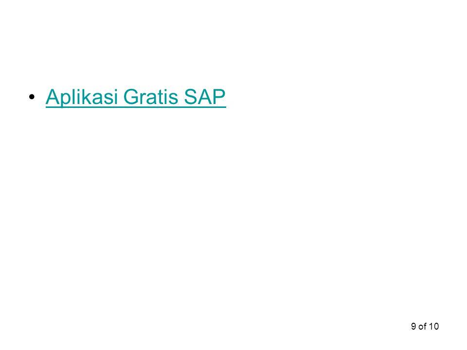 Aplikasi Gratis SAP