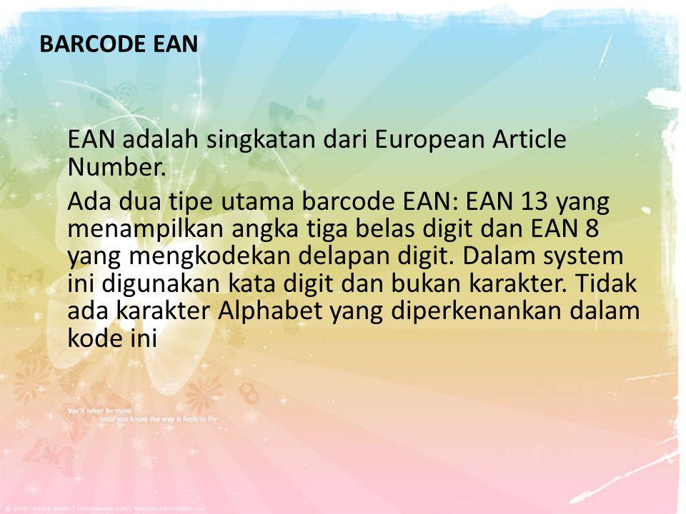 BARCODE EAN
