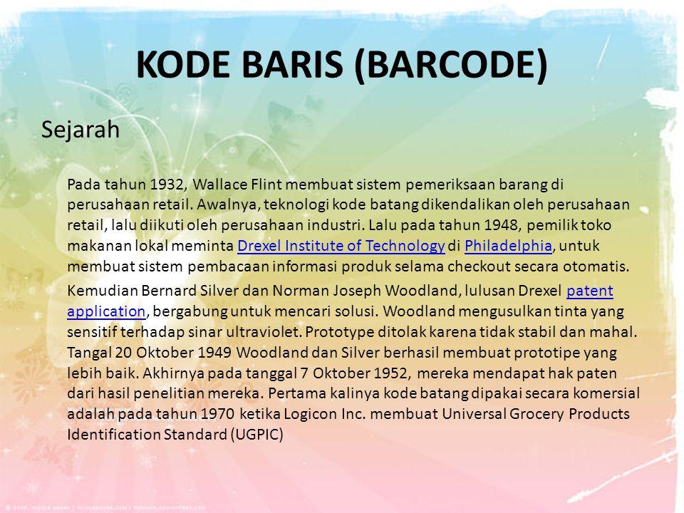Kode Baris (Barcode) Sejarah