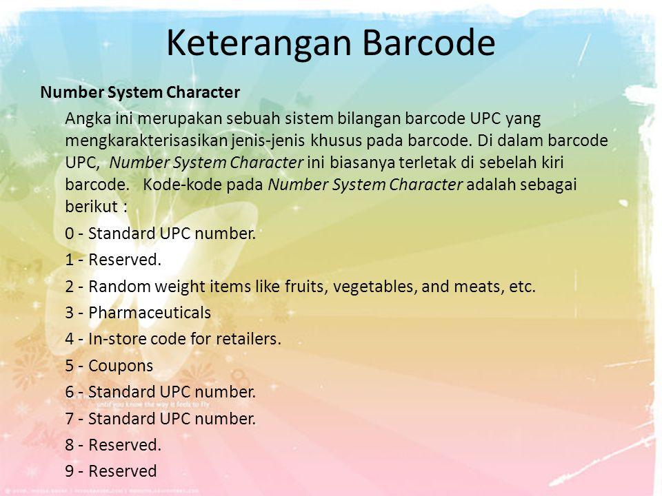 Keterangan Barcode