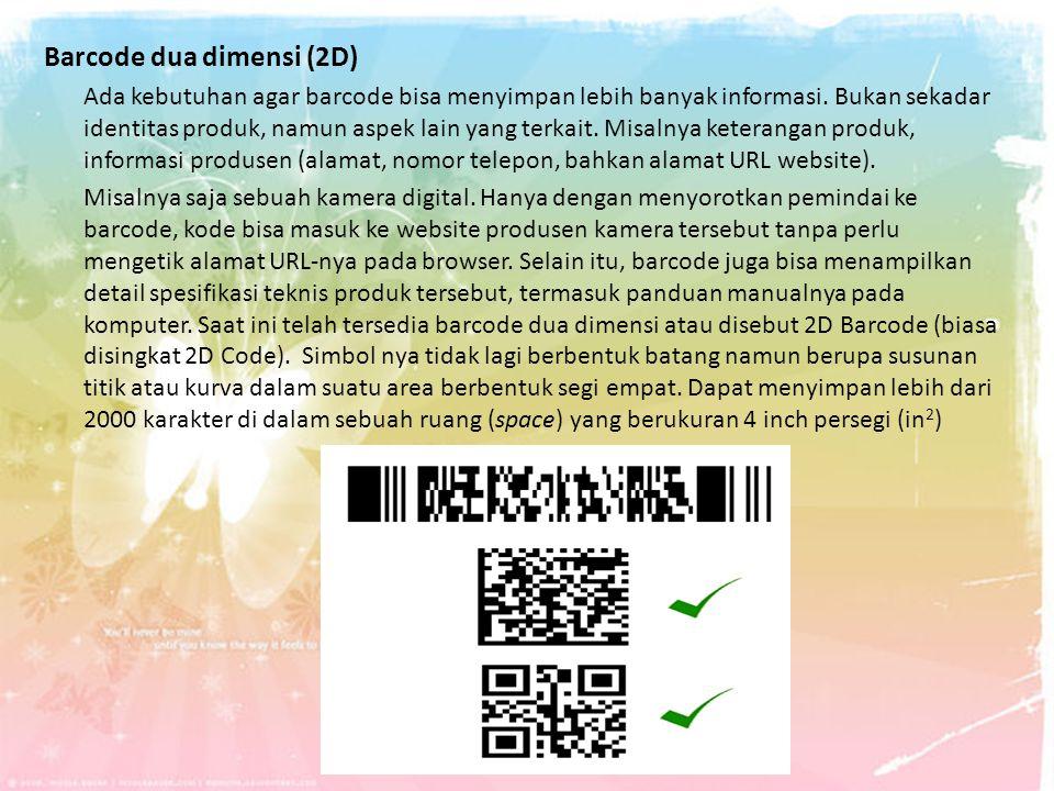 Barcode dua dimensi (2D)
