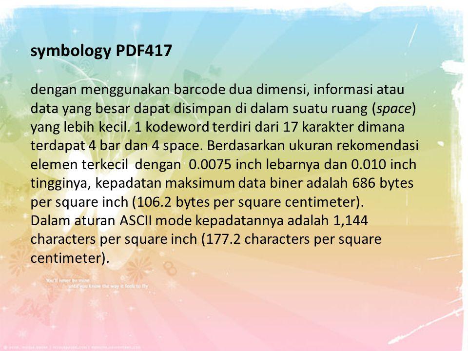 symbology PDF417