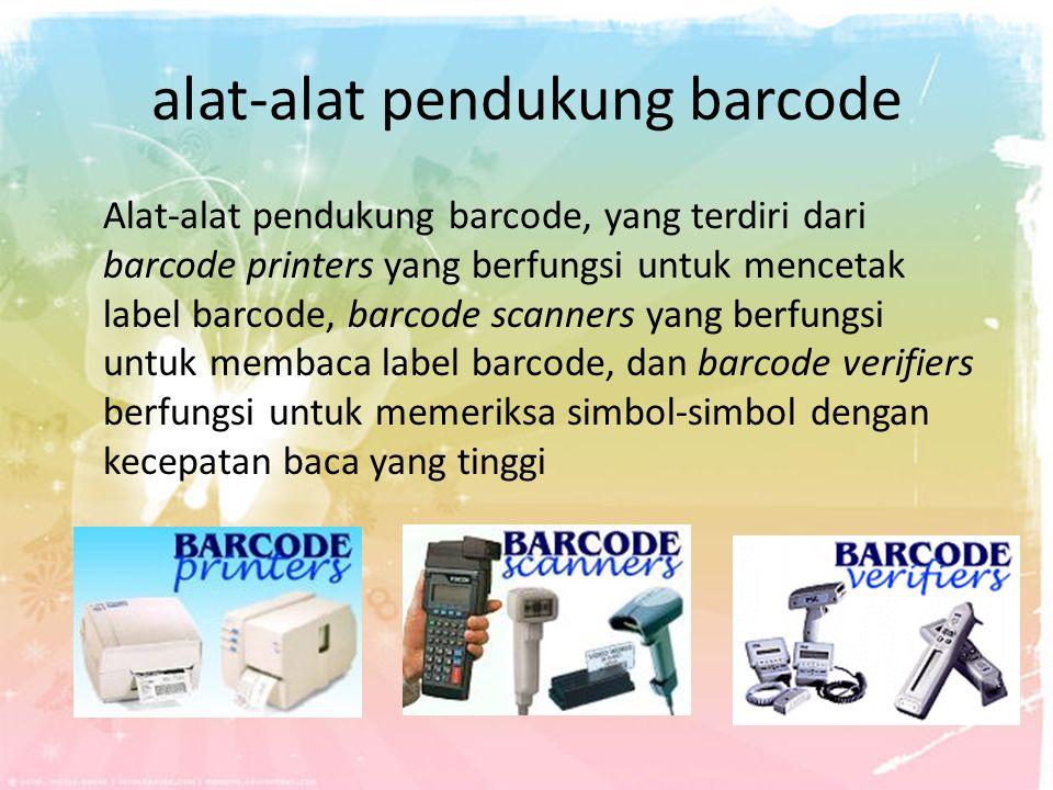 alat-alat pendukung barcode