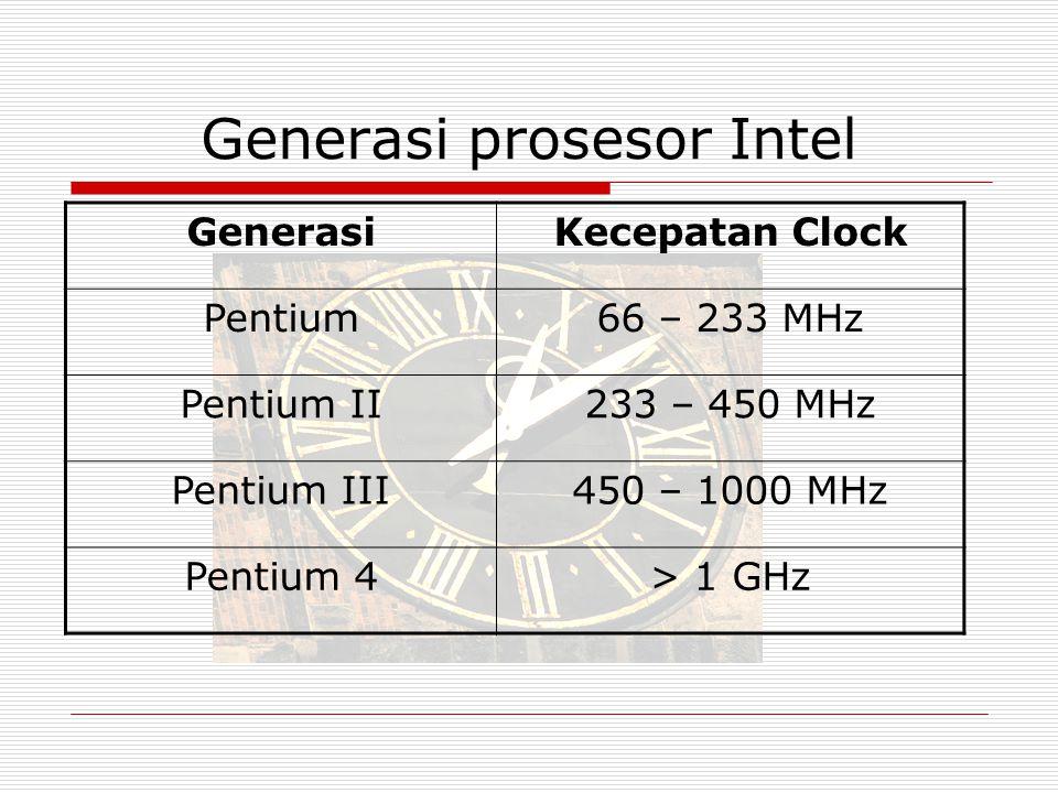 Generasi prosesor Intel