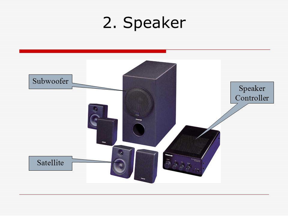 2. Speaker Subwoofer Speaker Controller Satellite