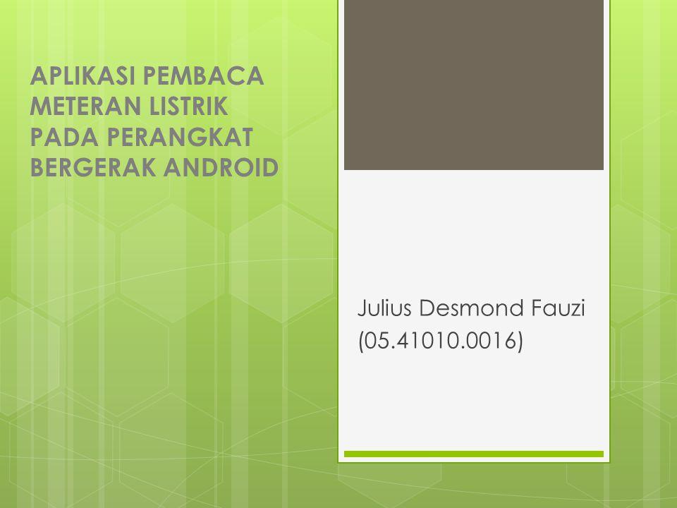 Aplikasi Pembaca Meteran Listrik pada perangkat bergerak Android