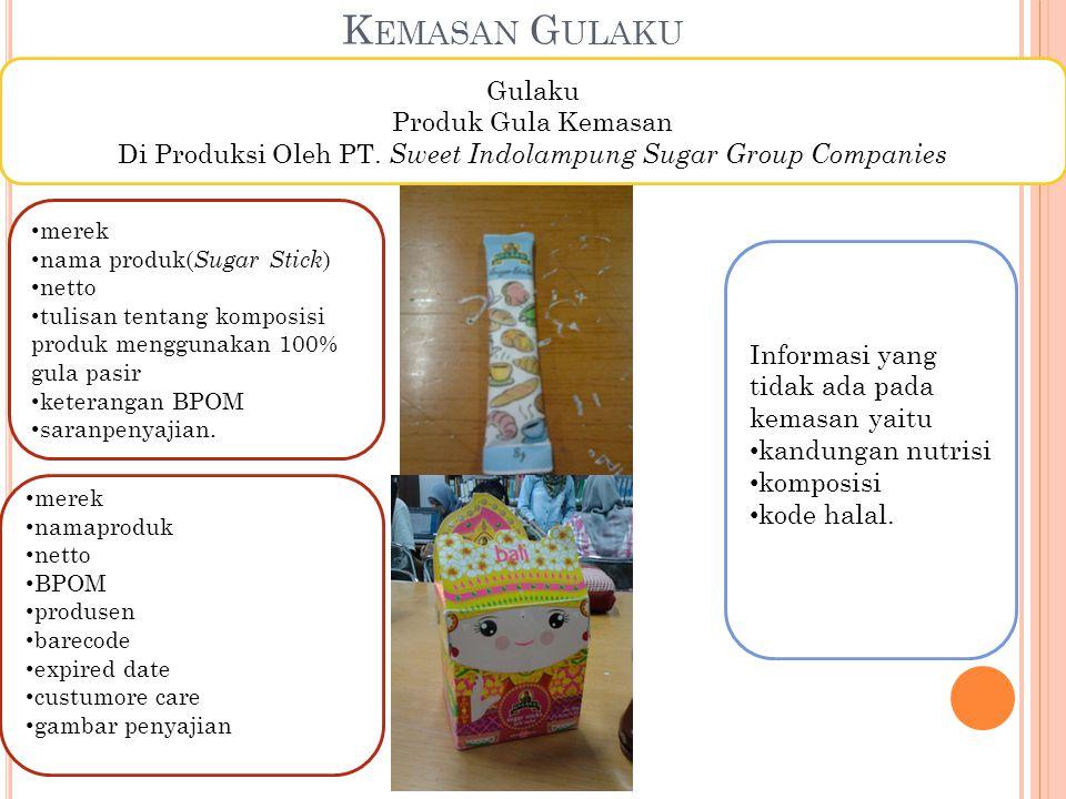 Di Produksi Oleh PT. Sweet Indolampung Sugar Group Companies