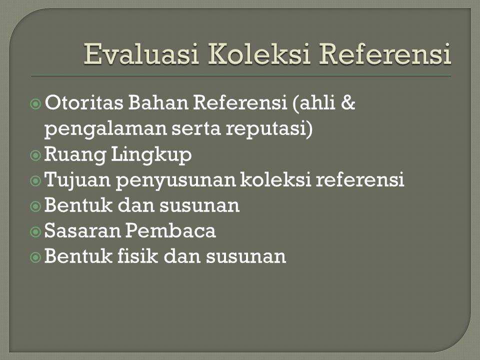 Evaluasi Koleksi Referensi