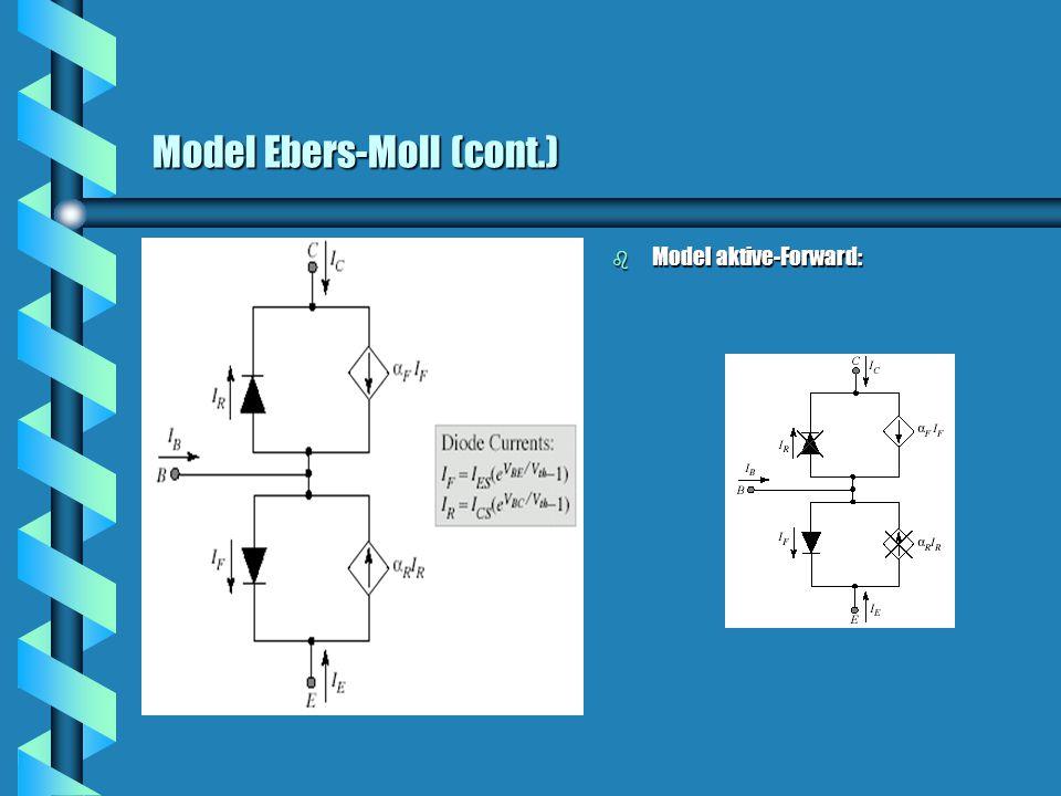 Model Ebers-Moll (cont.)