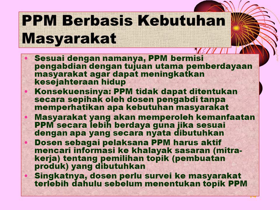 PPM Berbasis Kebutuhan Masyarakat