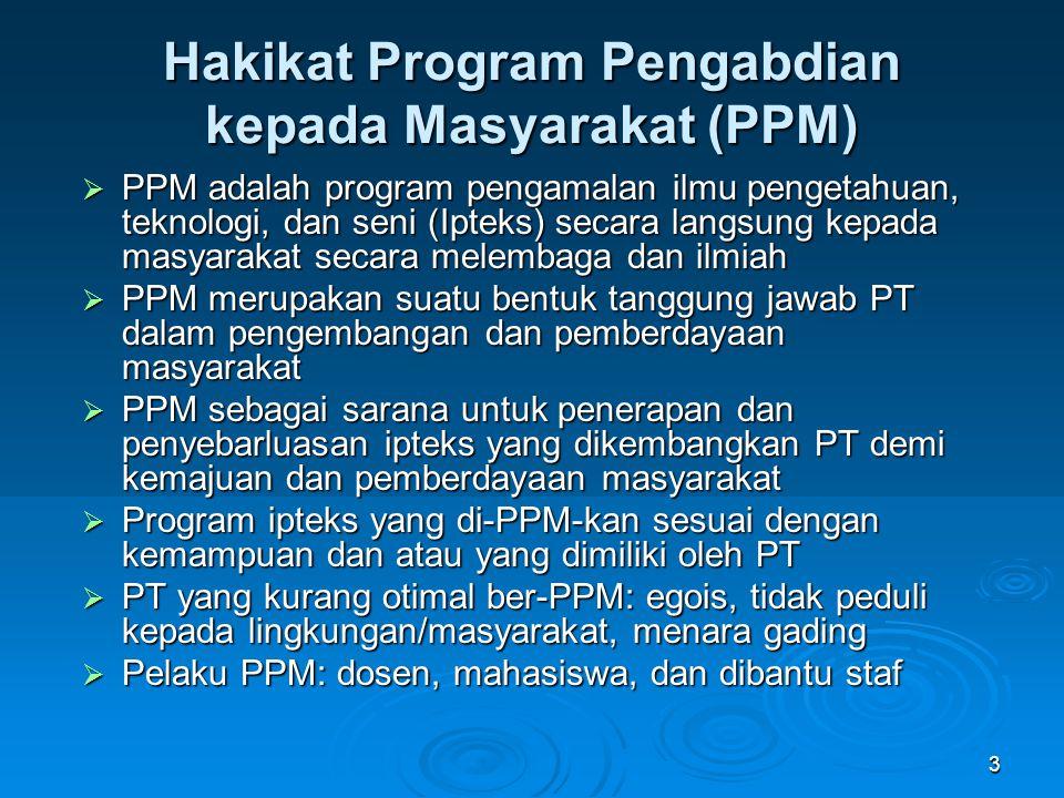 Hakikat Program Pengabdian kepada Masyarakat (PPM)