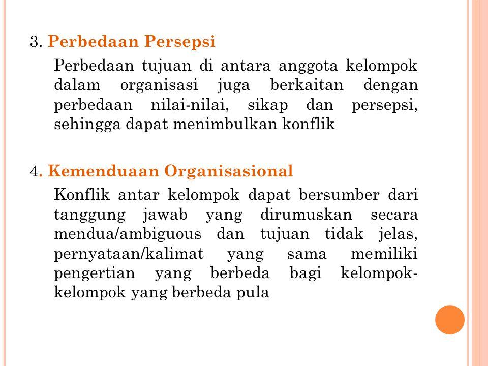 3. Perbedaan Persepsi