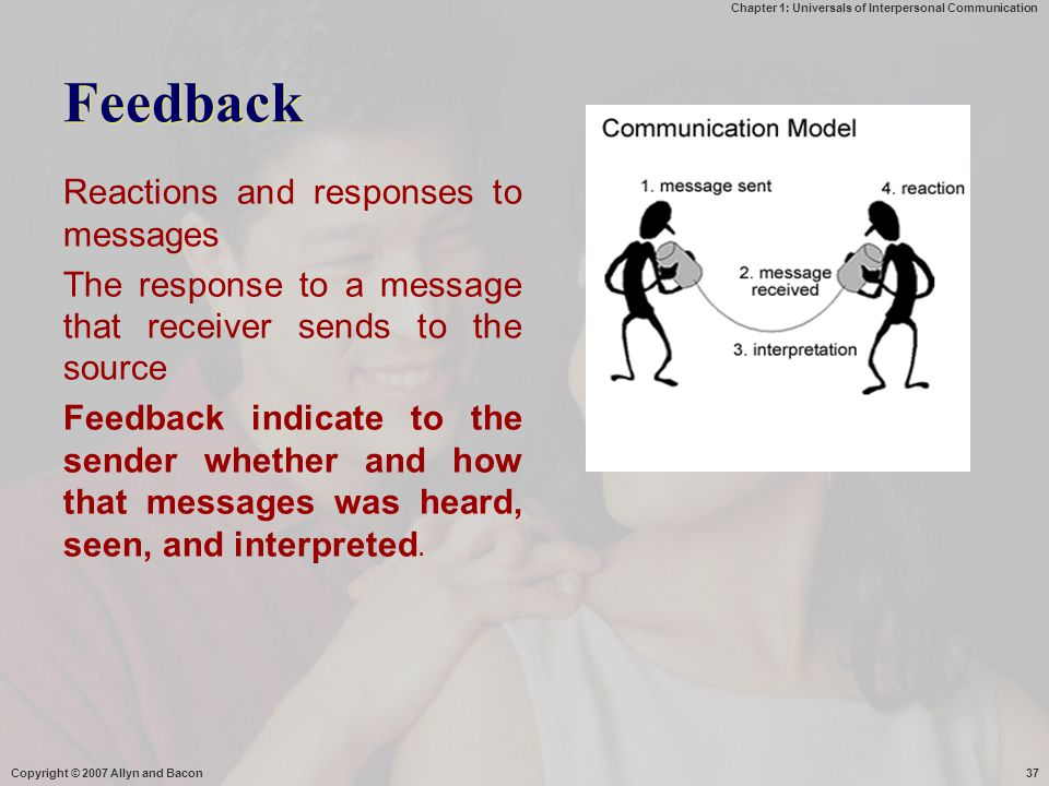 Feedback Reactions and responses to messages