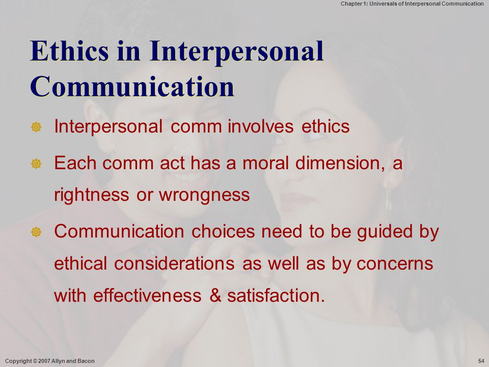 Ethics in Interpersonal Communication