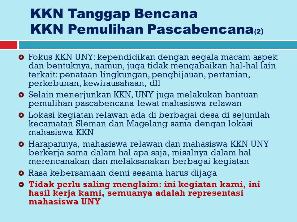 KKN Tanggap Bencana KKN Pemulihan Pascabencana(2)