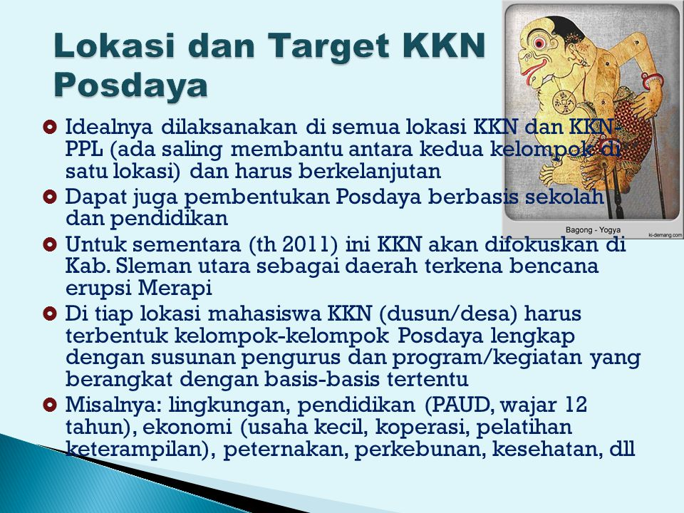 Lokasi dan Target KKN Posdaya
