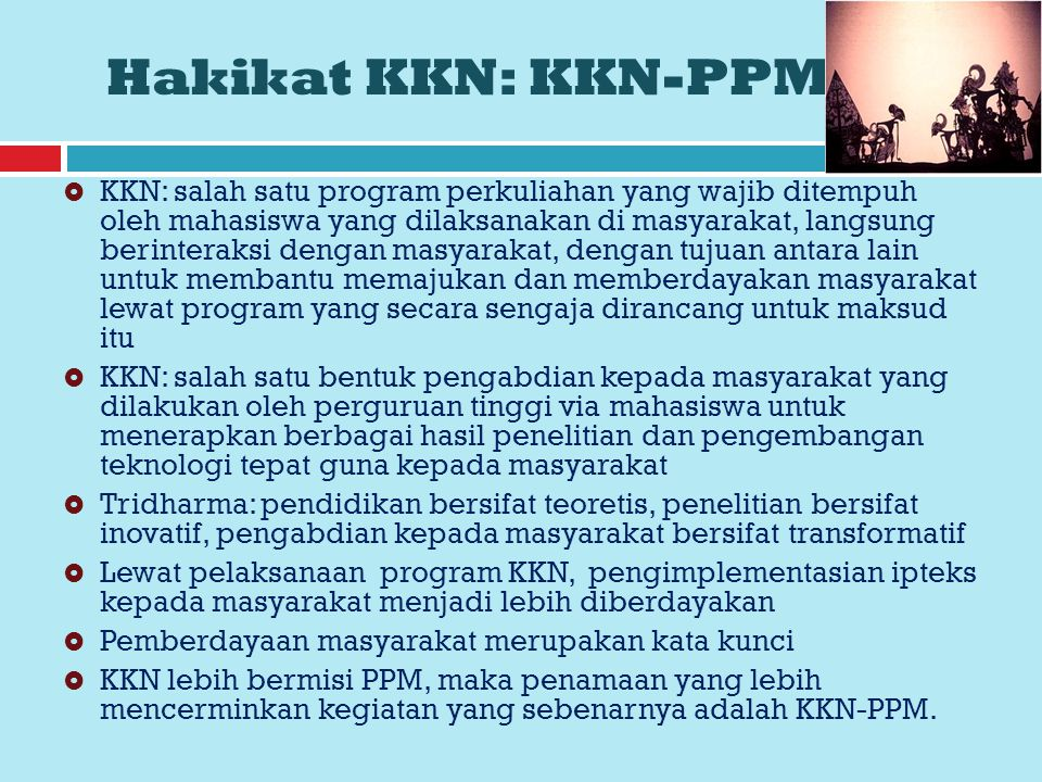 Hakikat KKN: KKN-PPM