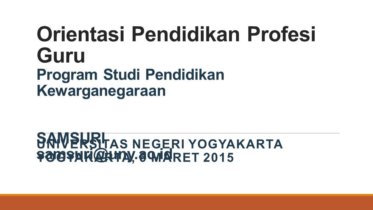 UNIVERSITAS NEGERI YOGYAKARTA Yogyakarta, 6 Maret 2015