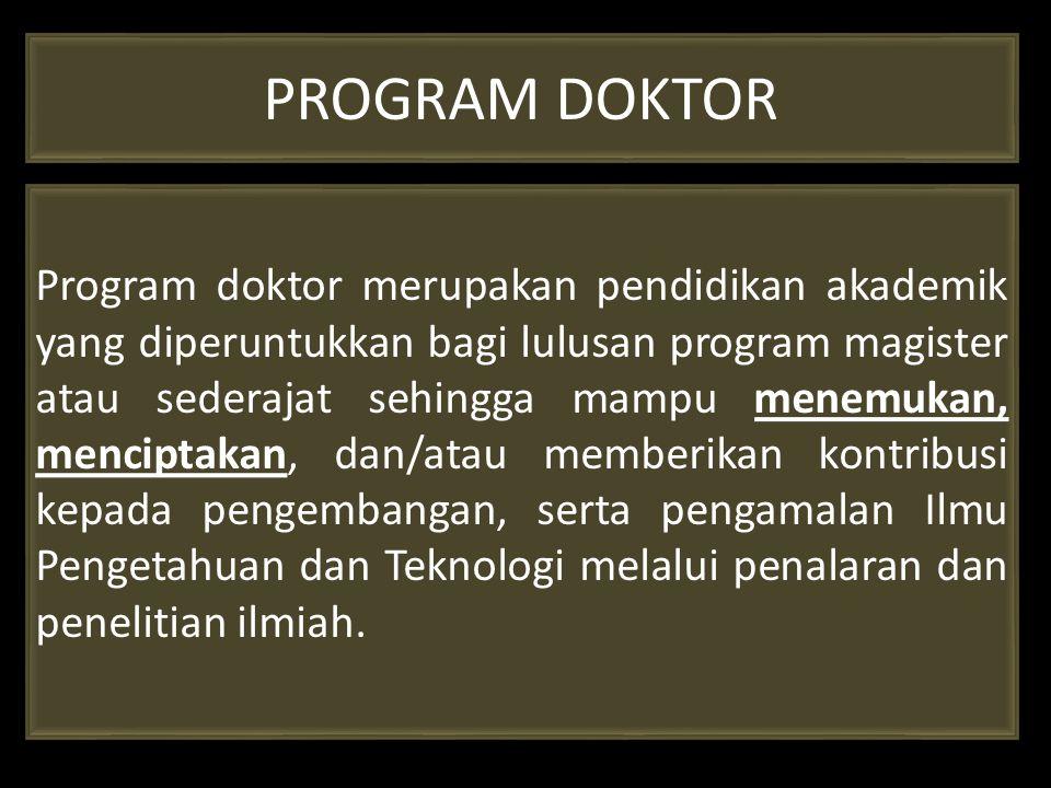 PROGRAM DOKTOR